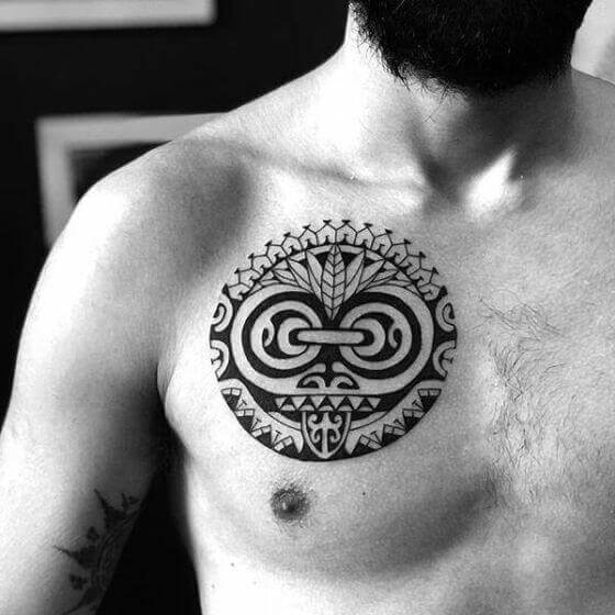 Best Maori Tattoo on Chest