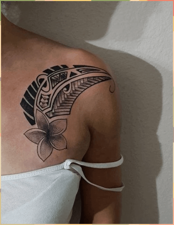 Maori Tattoo Design On The Shoulder