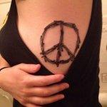 Peace Symbol Tattoo for female
