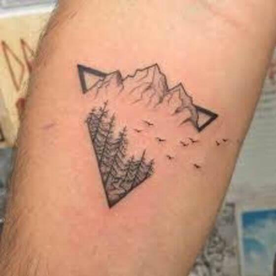 Best Trigonometric Mountain Tattoos
