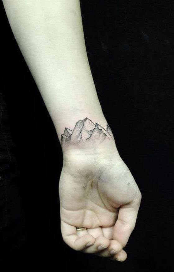 Best Wrist Mountain Tattoo Ideas