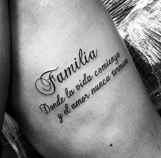 Family Quote in Other Language