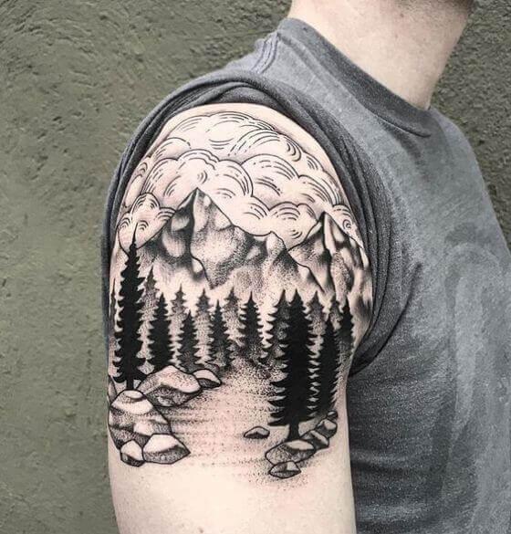 Intricate Mountain Image