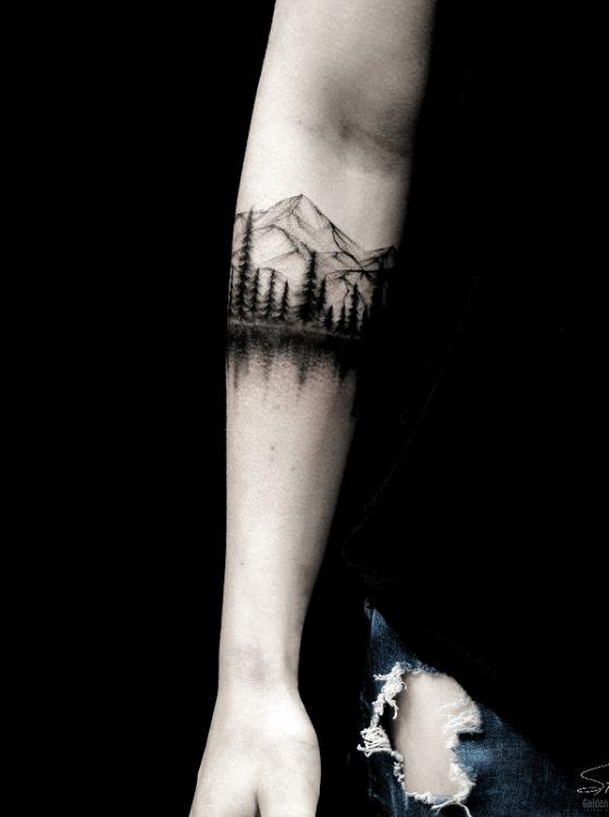 Mountain Arm Tattoo designs 2021