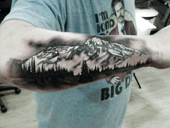 Snow-Capped Mountain Tattoo designs