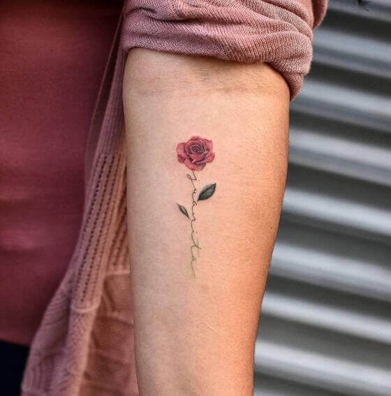 Magnificent Red Rose Tattoos designs