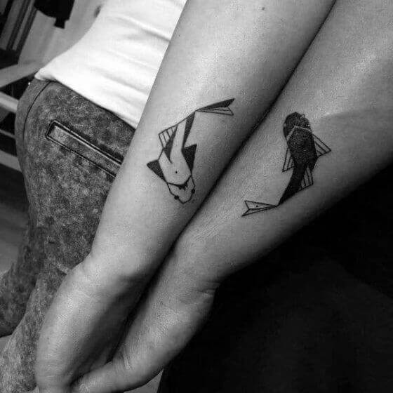 Matching-Fish-Tattoo-ideas-on-arm