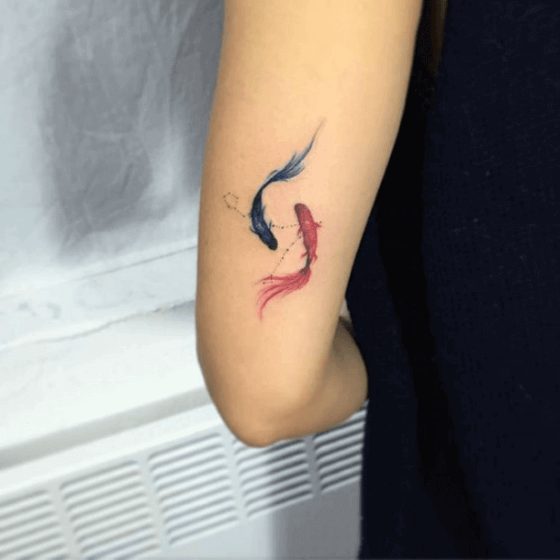 Pisces Fish tattoo ink