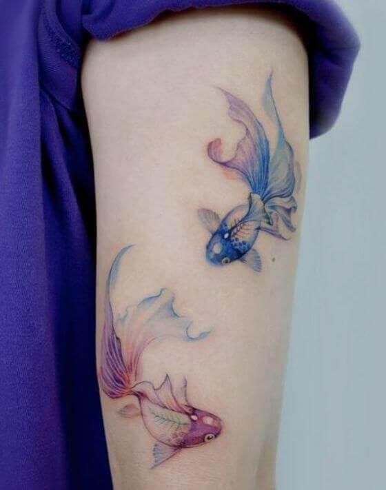 Watercolor Fish Tattoo designs in 2021