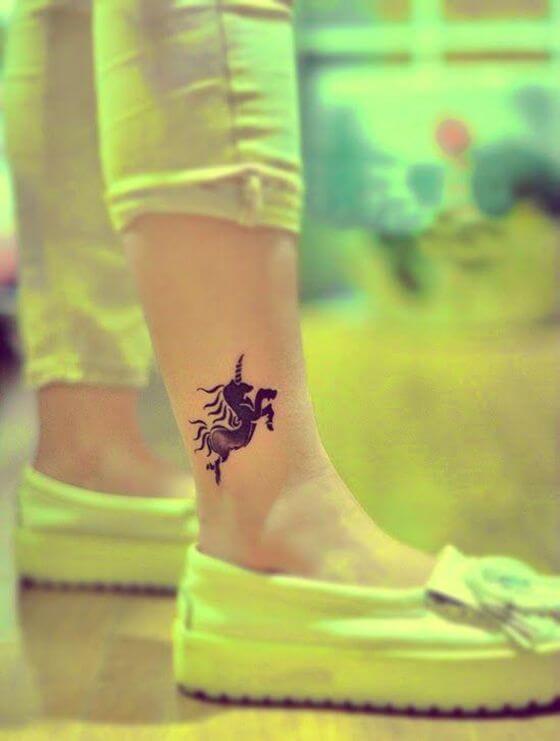 best ankle unicorn tattoo ideas