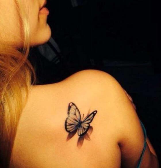 3D Shoulder Tattoo designs girl