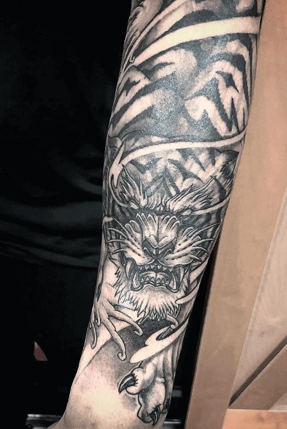 Asian Tiger Tattoo