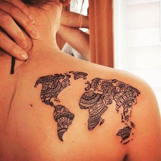 Best Travel Shoulder Tattoo ideas