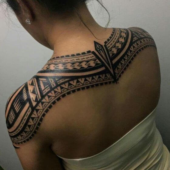 Maori Tattoo ink on shoulder