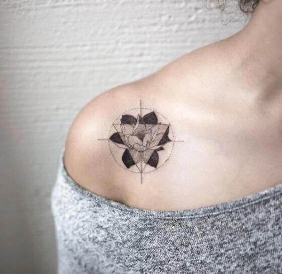Unique Triangle Tattoo designs on soulder