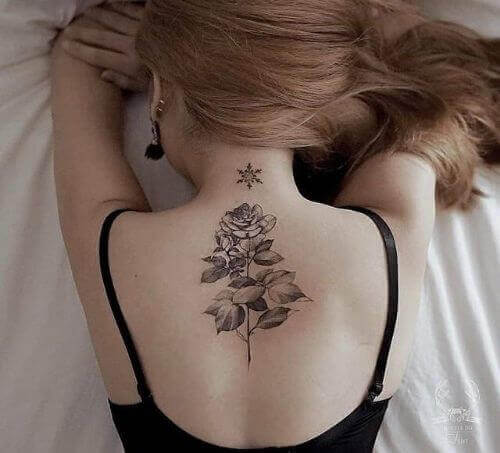 back tattooed women