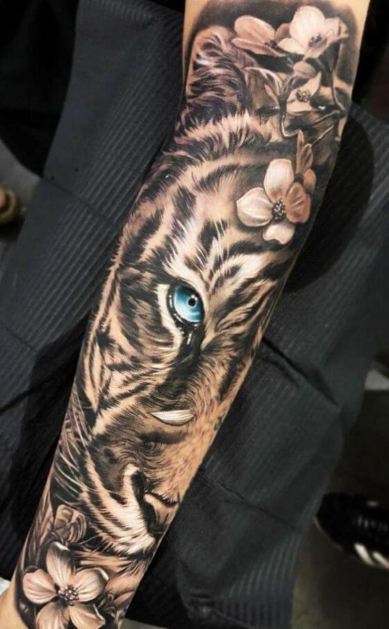 best tiger sleeve tattoo