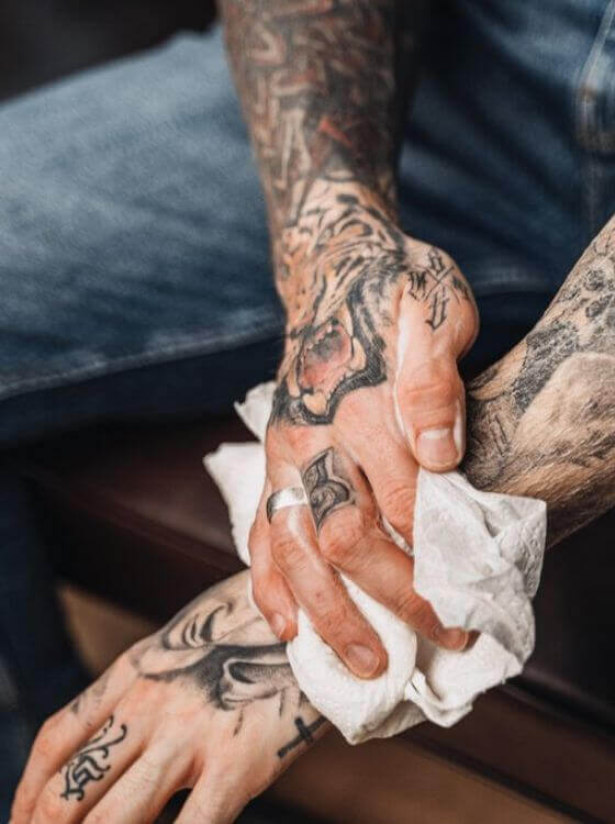 What shall you do to retain tattoo colors