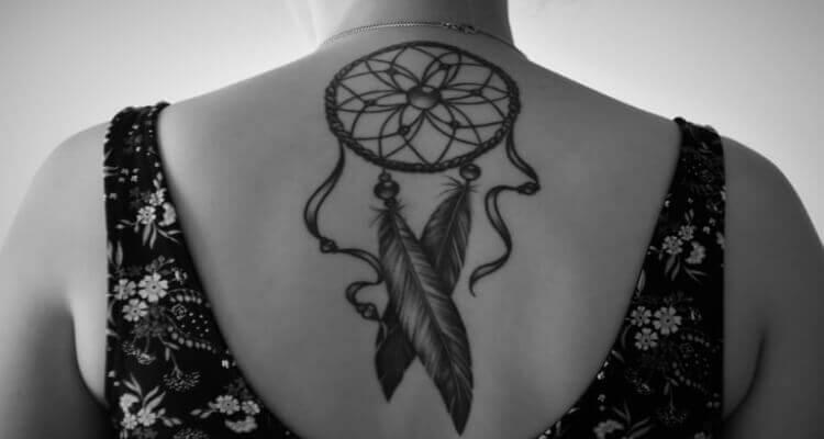 Best Dream Catcher Tattoo Designs on back