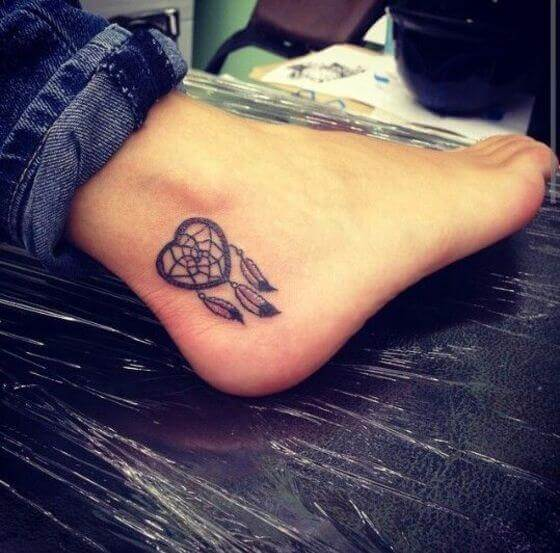 Best Dream Catcher Tattoo on ankle