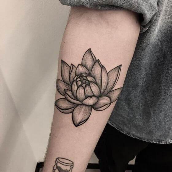 Best Forearm Lotus Flower Tattoo designs