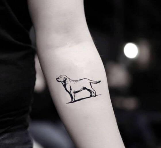 Best Silhouette Dog Tattoo designs