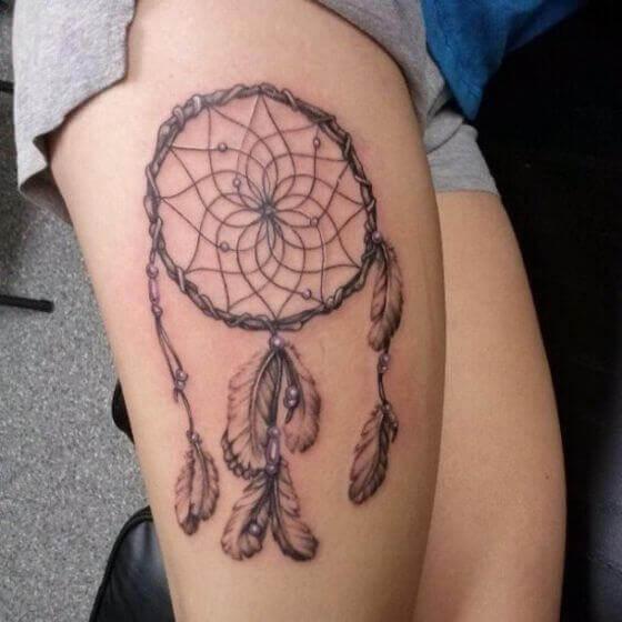 Branch Dream Catcher Tattoos