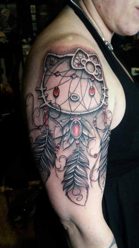 Cartoon Dream Catcher Tattoo ideas