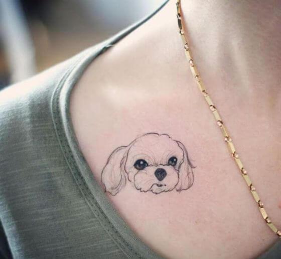 Cute Cartoon Puppy Tattoo