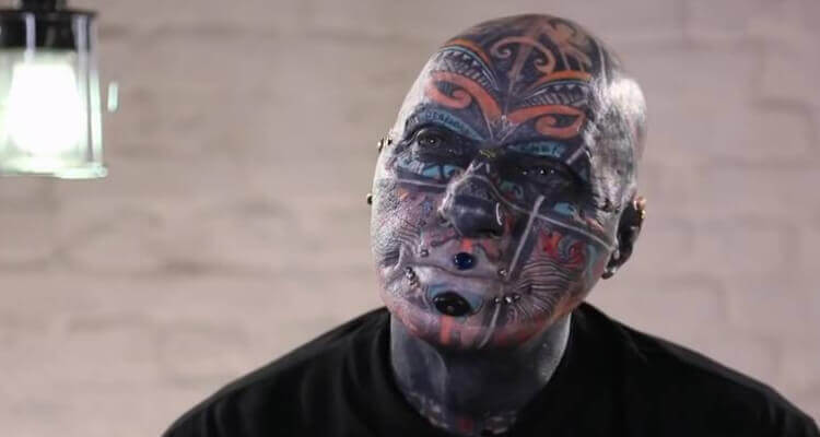 Germany's most tattooed man 72 years old Wolfgang Kirsch
