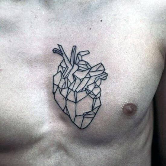 Heart Chest Tattoos For Men