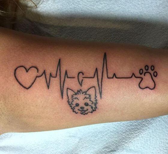 Lifeline Dog Tattoo ideas on arm