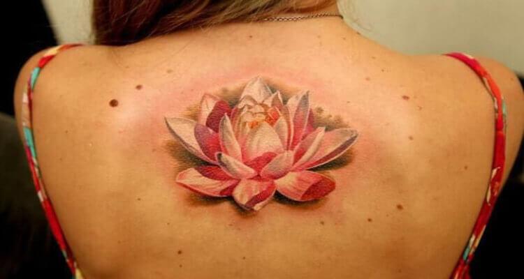 Lotus-flower-tattoo-on-back (1)