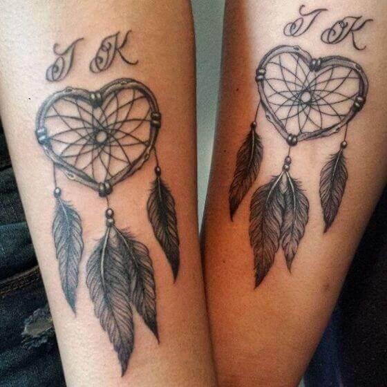 Matching Dream Catcher Tattoos
