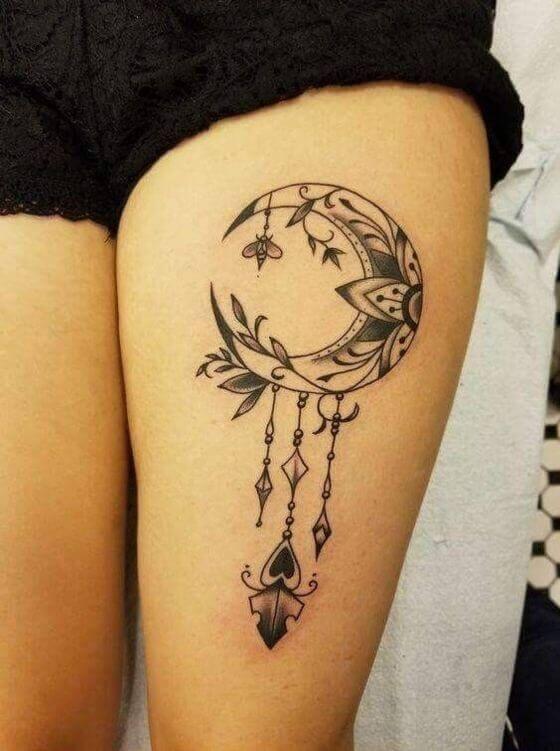 Moon DreamCatcher Tattoo women