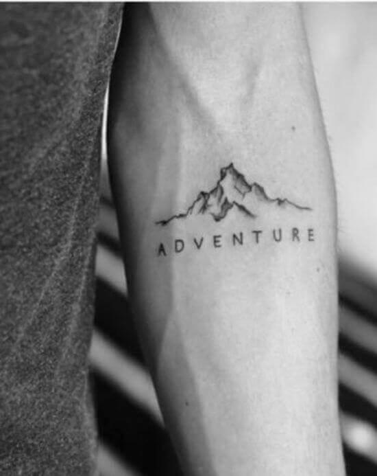Mountain Tattoos on Men Arm