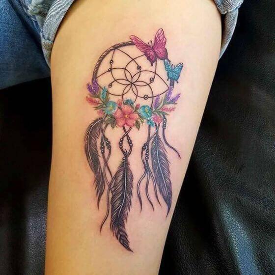best Butterflies with Dream Catcher Tattoo designs