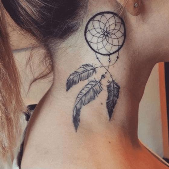 best Dream Catcher Neck Tattoo designs