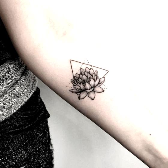 lotus with triangle tattoo ideas