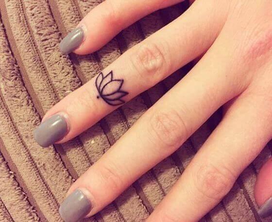 tiny Finger Lotus Tattoo ideas