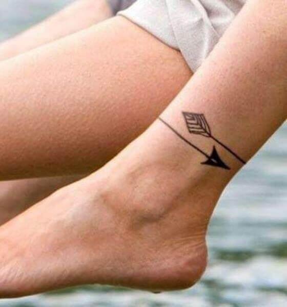 Arrow tattoo on ankle
