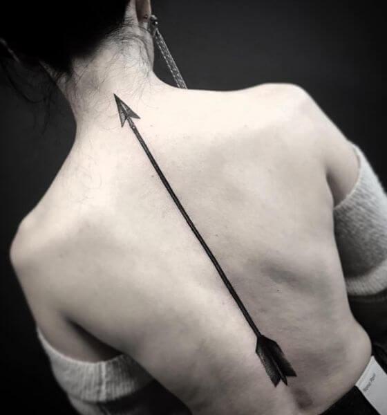 Arrow tattoo designs for back