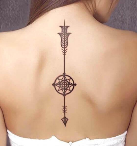 Arrow tattoo on Girl's back