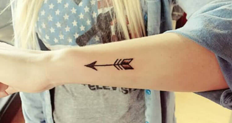Beautiful Tiny Arrow Tattoo On Wrist For Girl