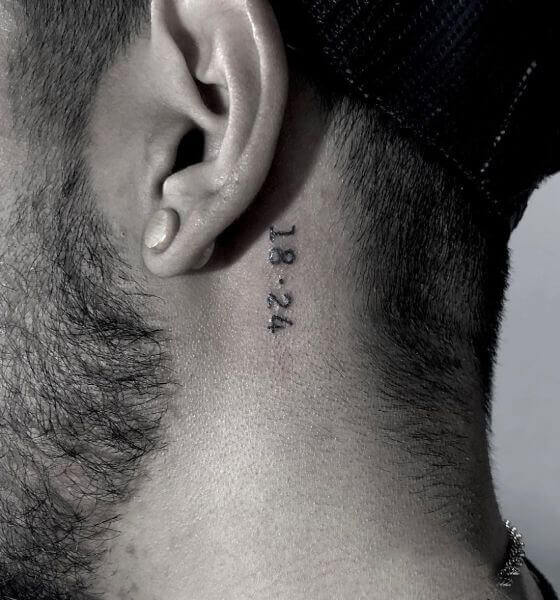 Date Tattoo ideas on behind the ear