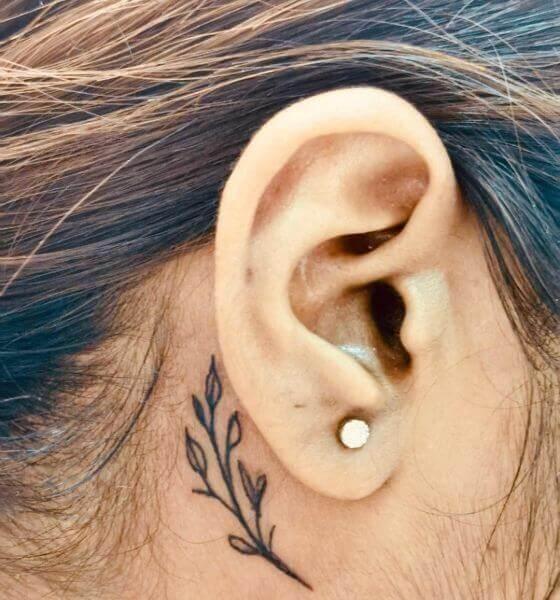 Leaf Ear Tattoo