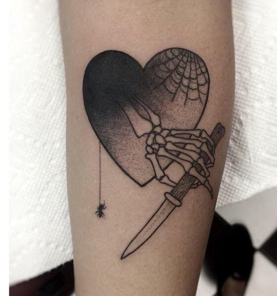 Leg Skeleton Hand Tattoo