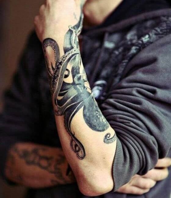 Octopus-Tattoo-On-Forearm...