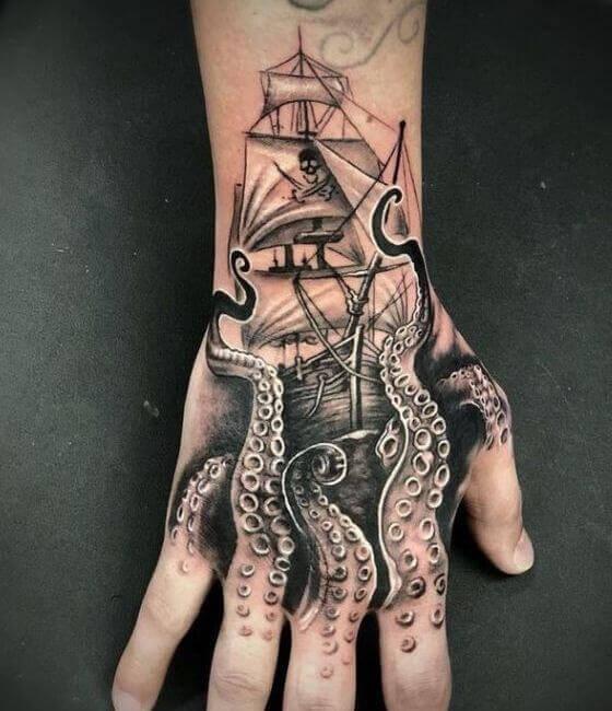Octopus-Tattoo-On-Hand.