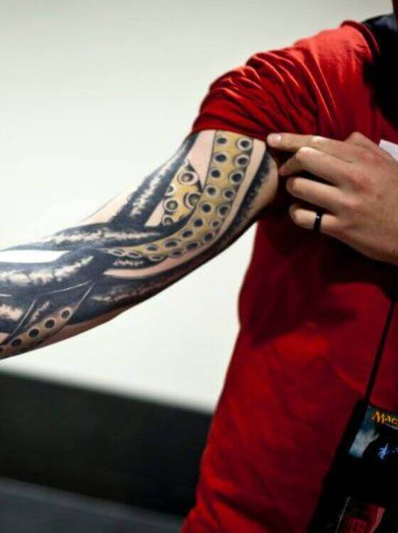 Best Octopus Tentacle Tattoo on forearm